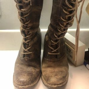 Frye Villager Lace up Boots - Distressed